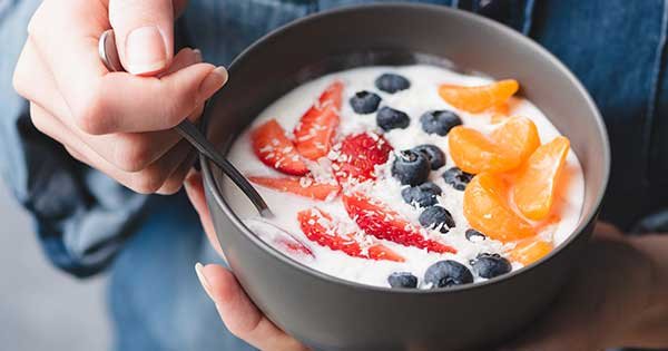 Homemade Yogurts with Fruits